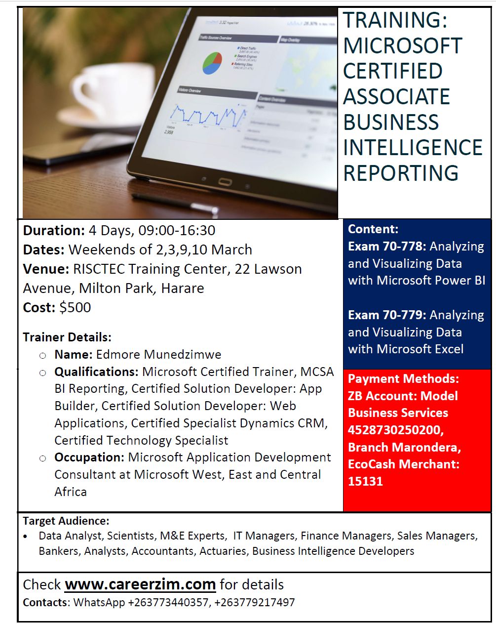 Mcsa Business Intelligence Reporting March 2019